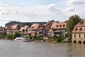 foto of regnitz  - Little Venice in Bamberg Germany - JPG