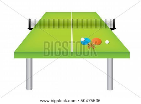 table tennis table and equipment image id