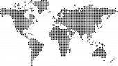 Постер, плакат: Точка карта мира