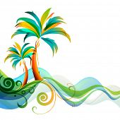 Palms and waves