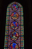 Stained glass windows of Saint Gatien cathedral in Tours France