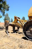 image of ripper  - Rear of a yellow bulldozer showing the ripper tool Costa del Sol Andalusia Spain Western Europe - JPG
