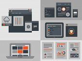 Flat User Interface Design Elements