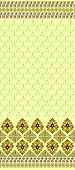 seamless brown pattern  with a wide border