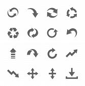 Simple Icon set related to Interface Arrows