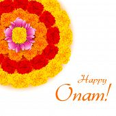 illustration of flower rangoli decoration for Onam