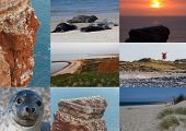 Postcard Collage With Spots On Helgoland North Germany