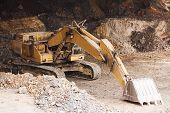 Excavator Standing In Mining
