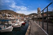 HYDRA, GREECE - MAY 7: View of Hydra town in May 7, 2013 in Hydra, Greece. Hydra island (20.1 sq mi,