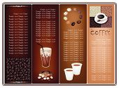 image of coffee crop  - Coffee Brochure of Roasted Coffee Bean Hot Coffee and Iced Coffee on Elegant Brown Background - JPG