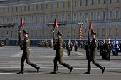 Parade Rehearsal Before Victory Day