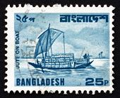 Postage Stamp Bangladesh 1982 Jute On Boat, River Transport