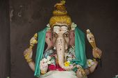 stock photo of ganesh  - Colorful statue of the Hindu god Ganesh - JPG