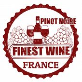 Pinot Noir, France Stamp