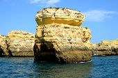 foto of vilamoura  - Cliffs yellow Albufeira in the Algarve Portugal - JPG