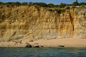 image of vilamoura  - Caves cliffs yellow Albufeira in the Algarve - JPG