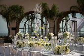 stock photo of catering service  - Image of a beautifully decorated wedding venue - JPG