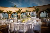 stock photo of ceremonial clothing  - Image of a beautifully decorated wedding venue - JPG