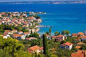 stock photo of kali  - Island of Ugljan colorful coastline Town of Preko Dalmatia Croatia - JPG