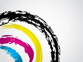 Cmyk Splatter Background