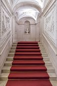 Lisbon, Portugal, December 02, 2013: The Noble Staircase of the Ajuda National Palace, Lisbon, Portu