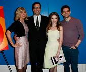 NEW YORK-FEB 24: (L-R) Lauren Versal, Richard LaGravenese, Anna Kendrick, Jeremy Jordan attend the s