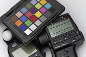 Spot Meter, Flash Meter And Test Target For Professional Photography And Cinematography