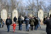 KIEV, UKRAINE - February 24, 2014: Mejigirya - residence of the ex president Yanukovich, now open fo