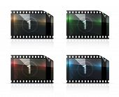 Film strip, vector set