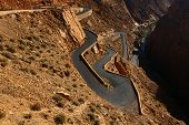foto of serpent  - Snake like serpent road  in Dades Gorge - JPG