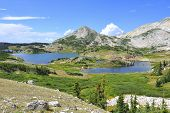 Medicine Bow Mountains And Lake In Wyoming