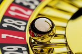 image of roulette table  - the cylinder of a roulette gambling in a casino - JPG