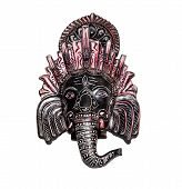 Elephant Indian God Ganesh On White