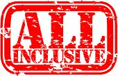 foto of all-inclusive  - Grunge all inclusive rubber stamp - JPG