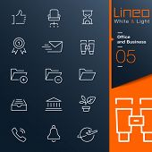 Lineo White & Light - Office and Business outline icons