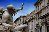 Square Navona In Rome,italy