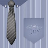 Tie And Shirt with pocket For Father's Day