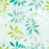 Vector spring background with branches and leaves