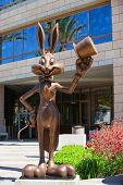Bugs Bunny Greeting Visitors At The Entrance To Warner Bros.