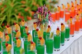 colored cocktails