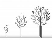 Vector Growing Arrow Tree