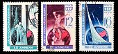 Ussr Stamps, Cosmonautics Day