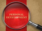 Personal Development - Magnifying Glass Concept.