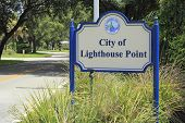 City Of Lighthouse Point, Florida Sign
