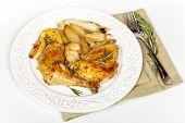 Garlic, Lemon and Rosemary Roasted Chicken