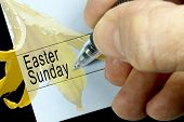Easter Sunday, Calendar Notation
