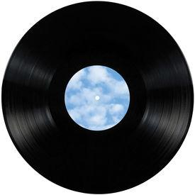 picture of lp  - Black vinyl record lp album disc - JPG