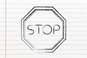 Stop Road Sign Illustration