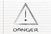 Danger Road Sign Design