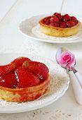 Romantic Table: Fruit Cakes And Flower Azalea